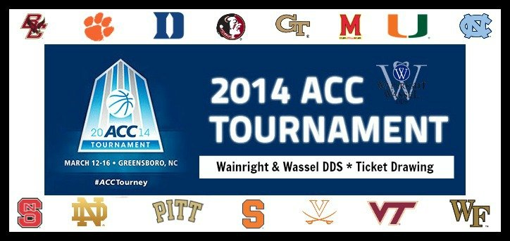 wainright wassel dds win tickets to the 2014 acc men 39 s basketball tournament wainright. Black Bedroom Furniture Sets. Home Design Ideas